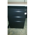 Meridian Legal 3 Drawer Pedestal Black Box Box File Grade A